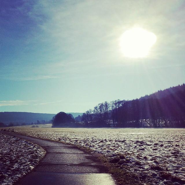 Neujahrsspaziergang am frühen Morgen mit dem Liebsten